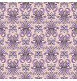 Seamless pattern violet tracery vector image vector image