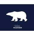 Silhouette of a polar bear side view vector image vector image
