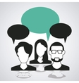 Bubble with couple of person icon Communication vector image