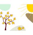 Sketch autumn vector image