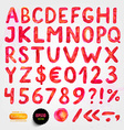 Bright Red Font vector image