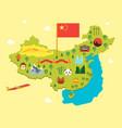 cartoon travel china tourism concept vector image