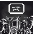 Cocktail party chalkboard background vector image