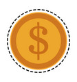 golden coin icon image vector image