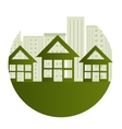 green city ecology buildings vector image