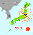 Japanese atomic power vector image