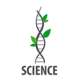logo DNA in form of plant leaves vector image