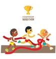 male championship marathon runners vector image