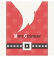 Red Christmas card with Santa Claus vector image