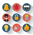 set security system protection data vector image