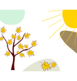 Sketch autumn vector image