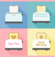 toast bread in various set vector image