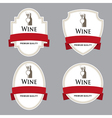 Set of wine labels with red tape vector image