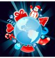 Christmas world vector image vector image