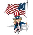 Uncle Sam I Want You Betsy Ross Flag vector image