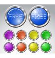 glass buttons vector image
