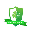 Life in Ireland vector image