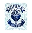 Summer Postcard Template vector image