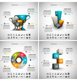 4 in 1 Business Infographics vector image