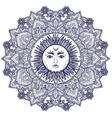 Sun Mandala Round Ornament vector image