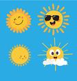 Cute Sun Characters vector image