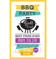 Barbecue party invitation BBQ template menu design vector image