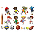 Children playing ball related sports vector image