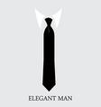 Elegant man background vector image