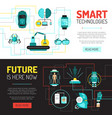 future is now banners vector image