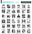 household classic black mini concept symbols home vector image