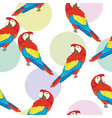 seamless pattern with parrot vector image