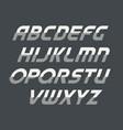 sport cursive uppercase alphabet futuristic vector image