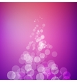 Abstract bokeh sparkles pyramid on blurred vector image