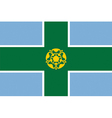 Flag of Derbyshire vector image vector image