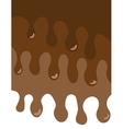 melted chocolate card vector image vector image