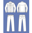 Jeans wear vector image vector image
