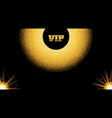 abstract golden vip invitation card with glow vector image