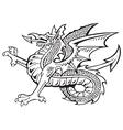 heraldic dragon No8 vector image