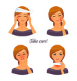 Sick woman character image vector image vector image