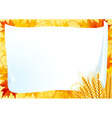 horizontal card for thanksgiving vector image