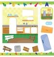 Kitchen interior puzzle vector image