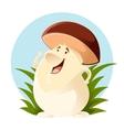 Cartoon happy Mushroom vector image