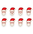 Christmas Santa Claus Avatar Smile Emoticon Icons vector image