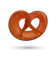 fresh tasty pretzel for oktoberfest vector image