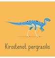 Kirostenot pergrasilis dinosaur colorful card vector image