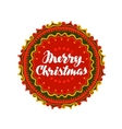 Merry Christmas Festive banner with decorative vector image