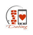 online dating app concept vector image
