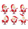 Santa in various characters vector image