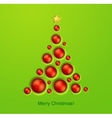 Simple golden Christmas tree vector image