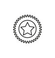 star sticker icon vector image